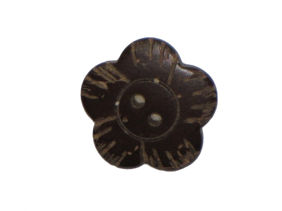 Star Coconut Shell Button