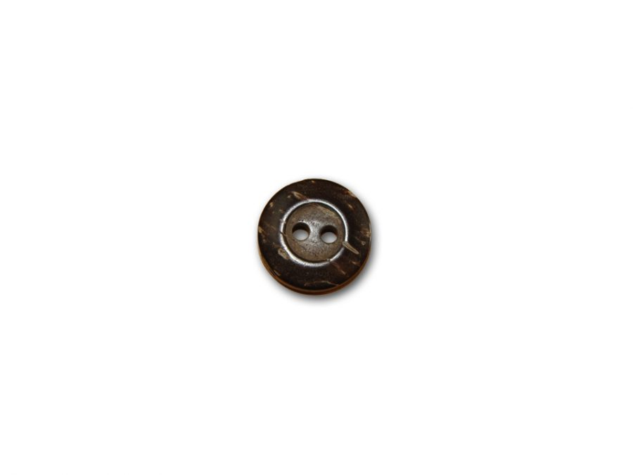 Two Hole Coconut Button 5/8in